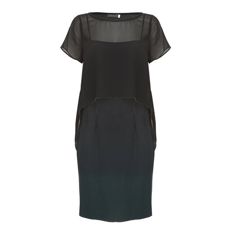 Ombré Cape Dress, ${color}