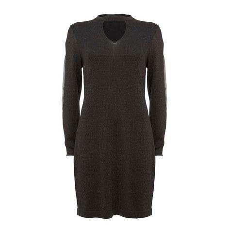Sheer Sleeve Knit Dress, ${color}