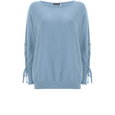 Ocean Marl Lace Up Sleeve Batwing, ${color}