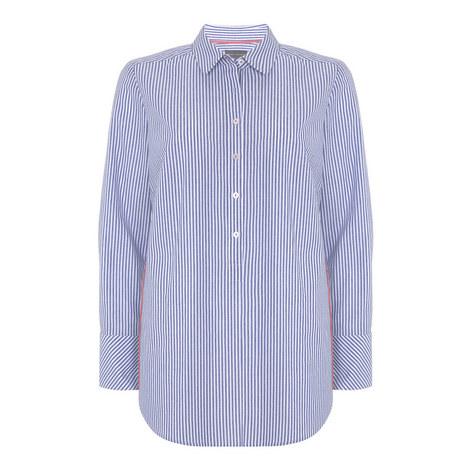 Contrast Stripe Shirt, ${color}