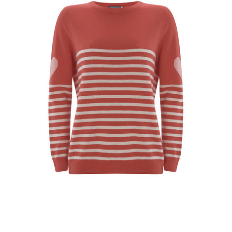 Watermelon Stripe & Heart Knit, ${color}