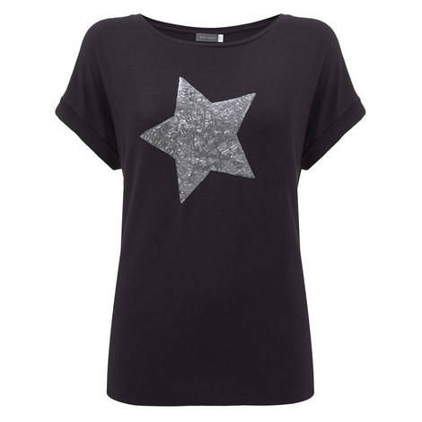Charcoal Sequin Star Tee, ${color}