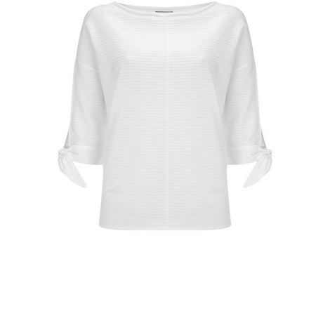 Ivory Tie Cuff Batwing Tee, ${color}