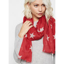 Star Print Scarf, ${color}