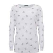 Ivory Metallic Star Tee