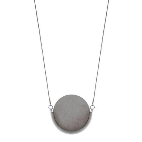 Circle Stone Pendant Long, ${color}