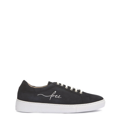 Cayla Navy Embroidered Trainer, ${color}