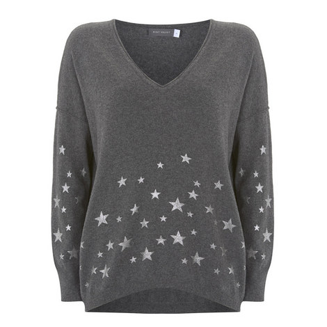 Foiled Star Cocoon Knit, ${color}