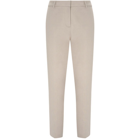 Petal Stretch Cotton Trouser, ${color}