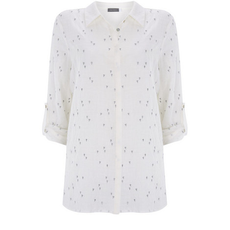 Ivory Heart Embroidered Shirt, ${color}