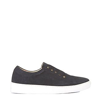 Lila Star Suede Trainers