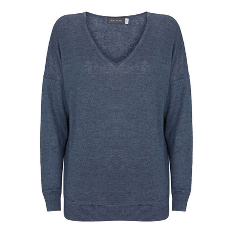 V-Neck Boxy Sweater, ${color}