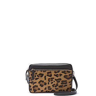 Poppy Leopard Print Camera Bag