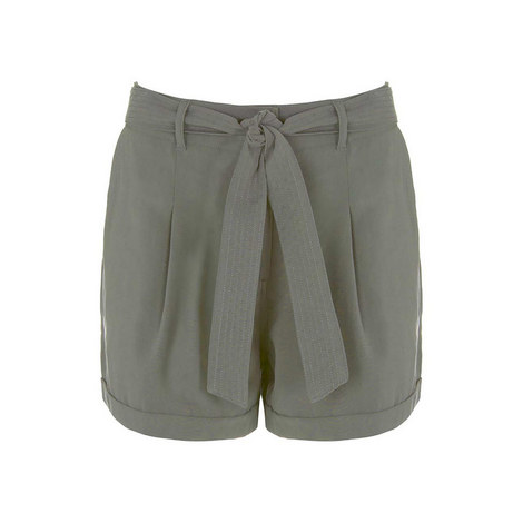 Khaki Tie Shorts, ${color}