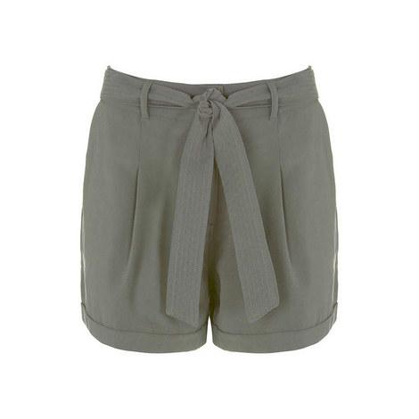 Khaki Tie Shorts, ${color}