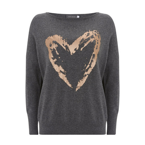 Granite Heart Foil Print Knit, ${color}