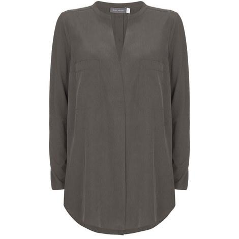 Khaki Pocket Front Tunic, ${color}