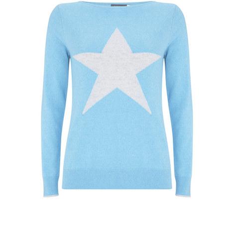 Ocean Marl Star Crew Neck Knit, ${color}