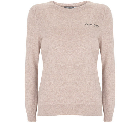 Blossom Eyelash Crew Neck Knit, ${color}