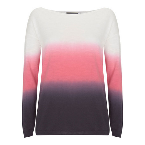 Ombré Cotton Slub Sweater, ${color}