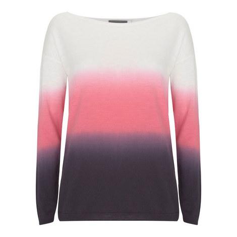 Ombré Cotton Slub Sweater, ${color}