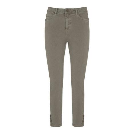 Maui Button Hem Skinny Jeans, ${color}