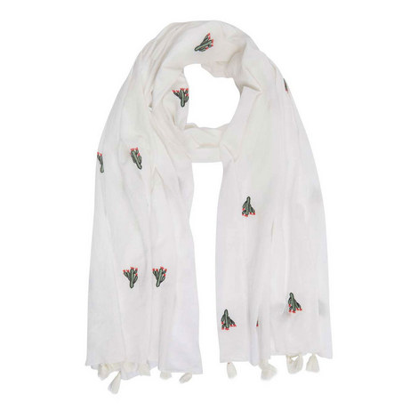 Embroidered Cactus Scarf, ${color}