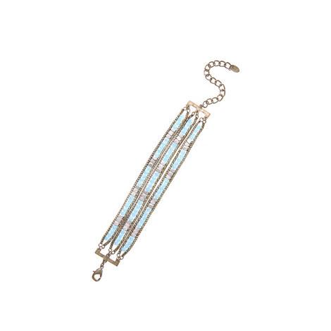 Triple Layer Coloured Bracelet, ${color}