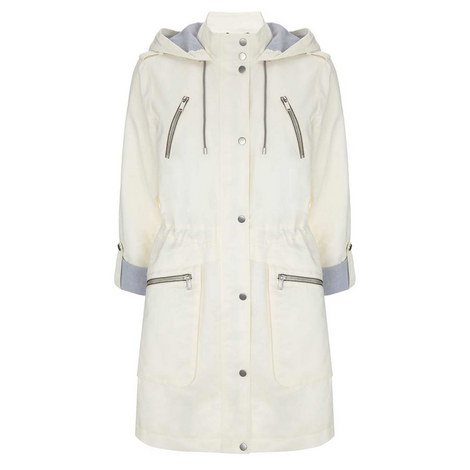 Cream Lightweight Hooded Parka, ${color}