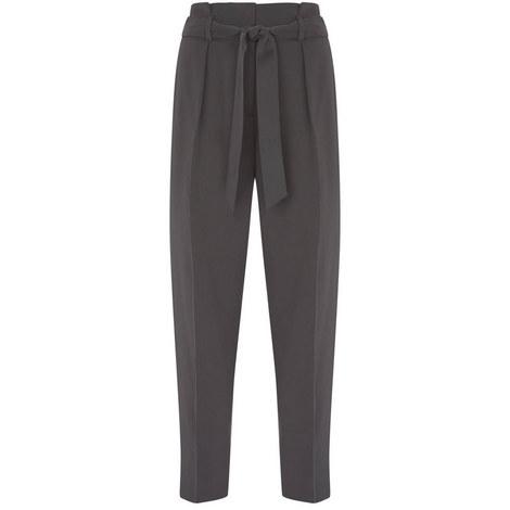Grey Belted Paperbag Trouser, ${color}