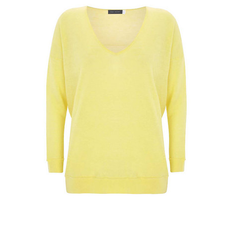 Lemon Raw Seam Detail Knit, ${color}