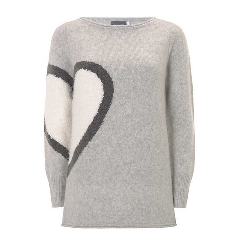 Multi Heart Motif Knit, ${color}