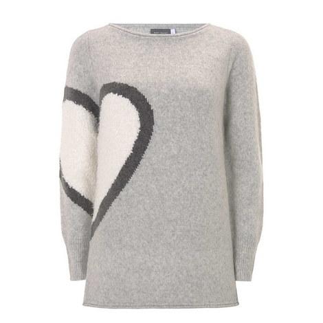 Multi Heart Motif Knit, ${color}