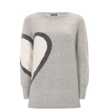 Multi Heart Motif Knit