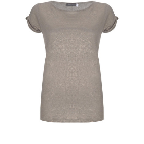 Shell Knot Sleeve Shimmer Tee, ${color}