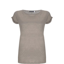 Shell Knot Sleeve Shimmer Tee