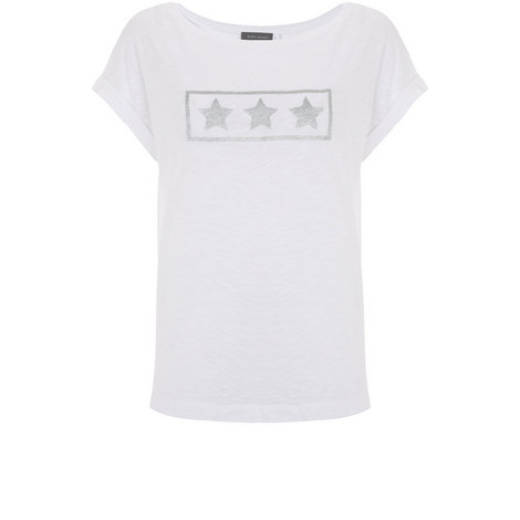 Ivory Star Outline Tee, ${color}