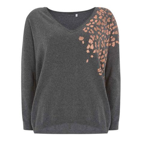 Foil Leopard Print Sweater, ${color}