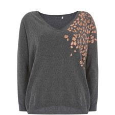 Foil Leopard Print Sweater