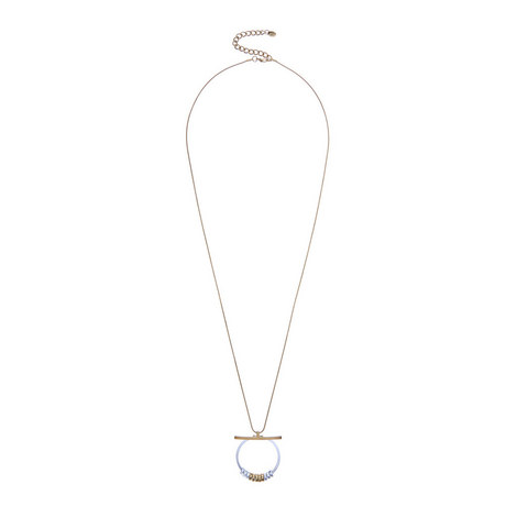 Metal Circle & Bar Necklace, ${color}