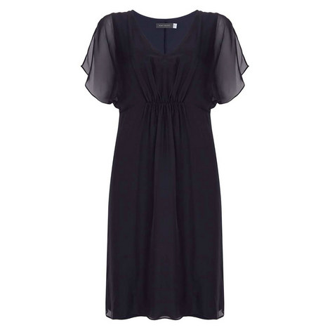 Ink Silk Front Jersey Dress, ${color}