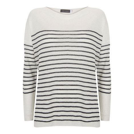 Stripe Linen Boxy Sweater, ${color}
