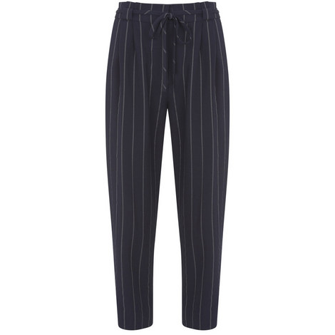 Navy Paperbag Stripe Trouser, ${color}