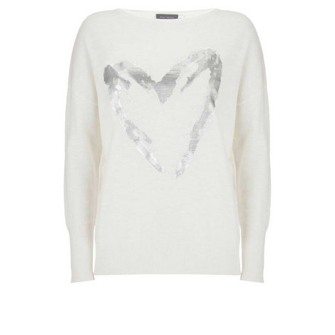 Ivory Foil Heart Boxy Knit, ${color}
