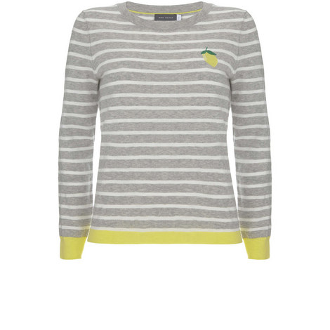 Lemon Stripe Motif Knit, ${color}