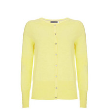 Lemon Cotton Cropped Cardigan