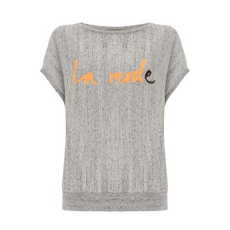 La Mode Slogan Slouchy Tee, ${color}