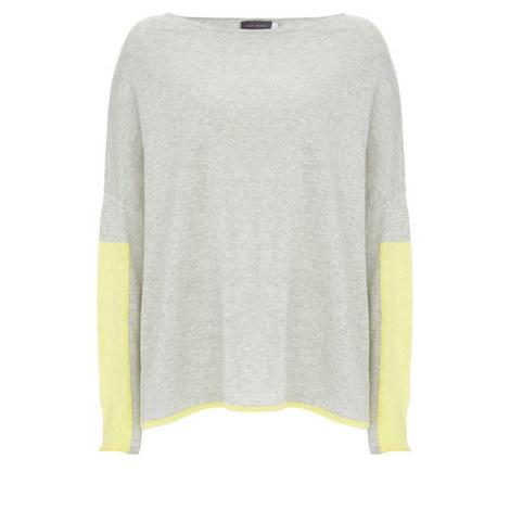 Grey Block Sleeve Cocoon Knit, ${color}