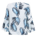 Joy Print Triple Tier Blouse, ${color}
