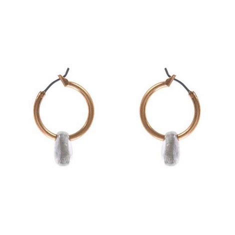 Nugget Drop Hoop Earrings, ${color}
